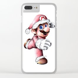 Super Mario Christmas Clear iPhone Case