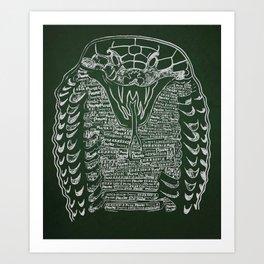 Slytherin Snake Art Print