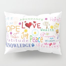 Inspirational Words Pillow Sham