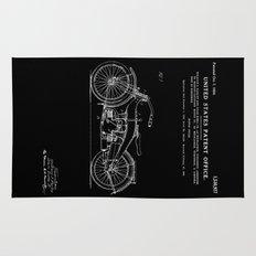 Motorcycle Patent - Black Rug
