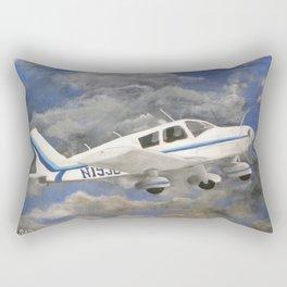 Soaring, Piper Cherokee Airplane Rectangular Pillow