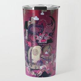 Dont Worry - Party Hard (Pink) Close Up Travel Mug