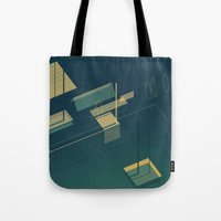 pool Tote Bags featuring Pool by Maxime Chillemi