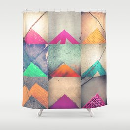 Bright Triangles Shower Curtain