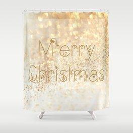 Christmas, rose gold glitter - Macro Photography #Society6 Shower Curtain