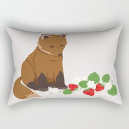 Strawberries for Fox Rectangular Pillow