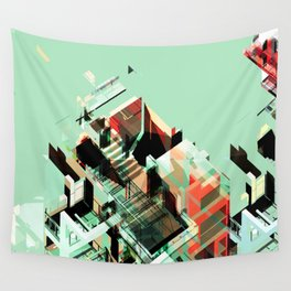 Urban Scape Fragments Wall Tapestry