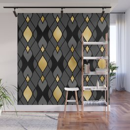 Sexy and Sultry Art Deco Geometric Pattern Wall Mural