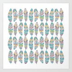 Amazon Feathers Art Print