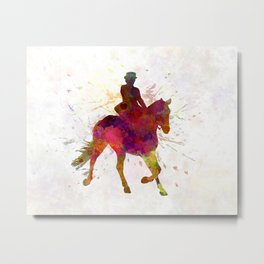 Horse show 03 in watercolor Metal Print
