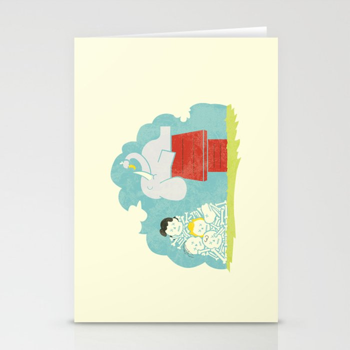 Elephants Love Peanuts Stationery Cards
