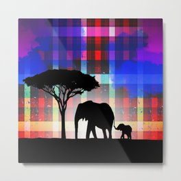 Rains in Africa Metal Print