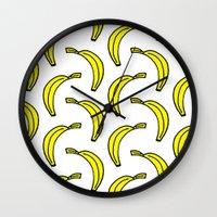 banana Wall Clocks featuring BANANA by Clove