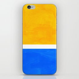 Primary Yellow Cerulean Blue Mid Century Modern Abstract Minimalist Rothko Color Field Squares iPhone Skin