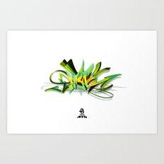 3d graffiti - NYC Art Print