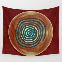 maps Wall Tapestries featuring Tribal Maps - Magical Mazes #02 by Menchulica