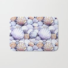 Sea Shells Amethyst Bath Mat