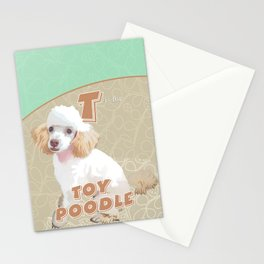 T is for Toy Poodle Stationery Cards
