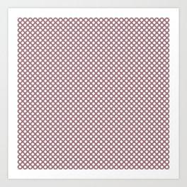 Nostalgia Rose and White Polka Dots Art Print