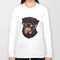 rottweiler Long Sleeve T-shirts featuring Rottweiler 2 by Mickeyila Studios