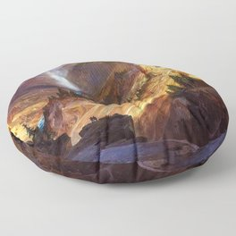 The Grand Canyon of the Yellowstone by Thomas Moran Floor Pillow
