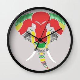 Colourful Elephant Wall Clock