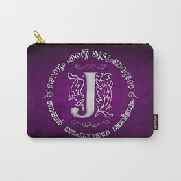 Joshua 24:15 - (Silver on Magenta) Monogram J Carry-All Pouch