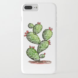 Psalm 63 watercoulor cactus bible verse iPhone Case