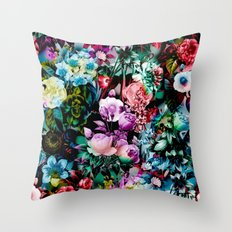 Multicolor Floral Pattern Throw Pillow