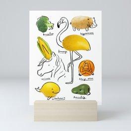 Wild Wild Wegan Mini Art Print