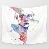 inspiration Wall Tapestries featuring Inspiration by Tsukiko-Kiyomidzu