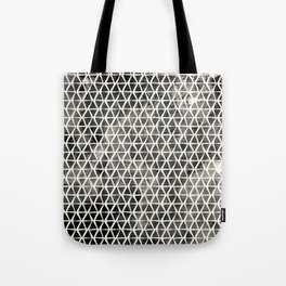 Black Hand-Drawn Triangles Tote Bag