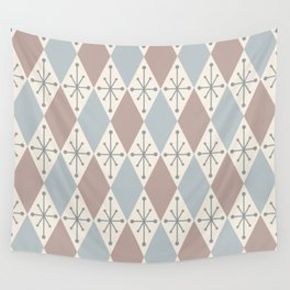 Diamonds and Starbursts Powder Wall Tapestry