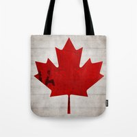 canada Tote Bags featuring Canada by Arken25