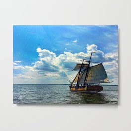 Tallship Sailing In Color Metal Print