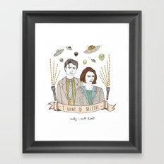 Mulder and Scully 4Ever Framed Art Print