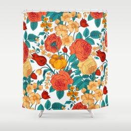 Vintage flower garden Shower Curtain