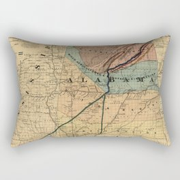 Map of Alabama 1867 Rectangular Pillow