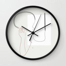 Espírito fumando Wall Clock