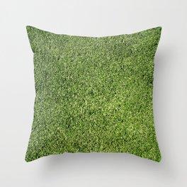 Green Lawn Throw Pillow