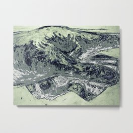 Abstracted hand in color  Metal Print