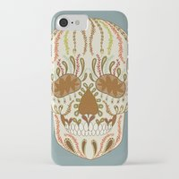 calavera iPhone & iPod Cases featuring CALAVERA by Nora