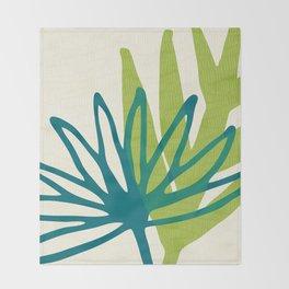 Whimsical Greenery Throw Blanket