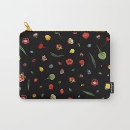 Floral Skull (Side) Carry-All Pouch