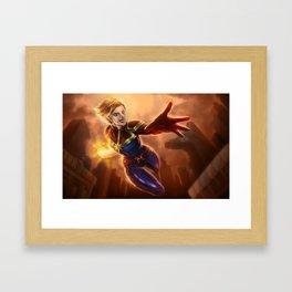 CaptainMarvel Framed Art Print