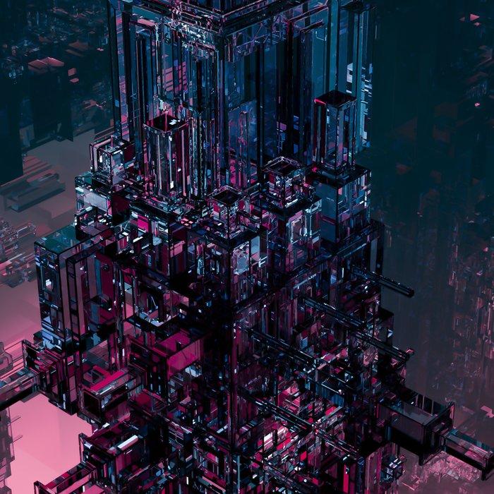The Technocore / 3D render of futuristic structure Leggings