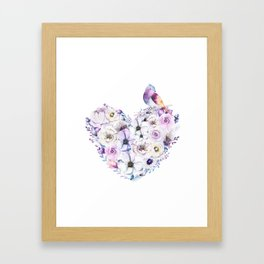 Heart Bouquet flowers #2 Framed Art Print