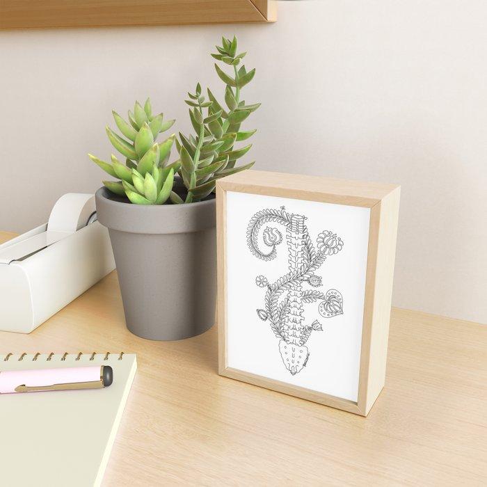 Spine, vertebra - back ridge anatomy Framed Mini Art Print