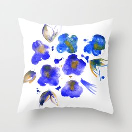 Ghost Violets Throw Pillow