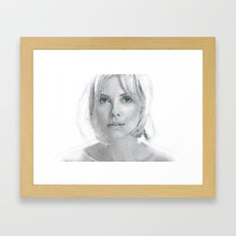 Charlize Theron  Portrait Framed Art Print